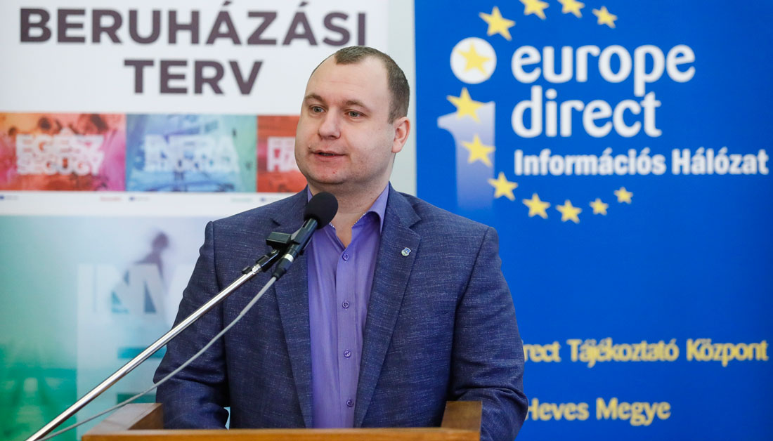 Az európai beruházási tervről tanácskoztak Heves megyében
