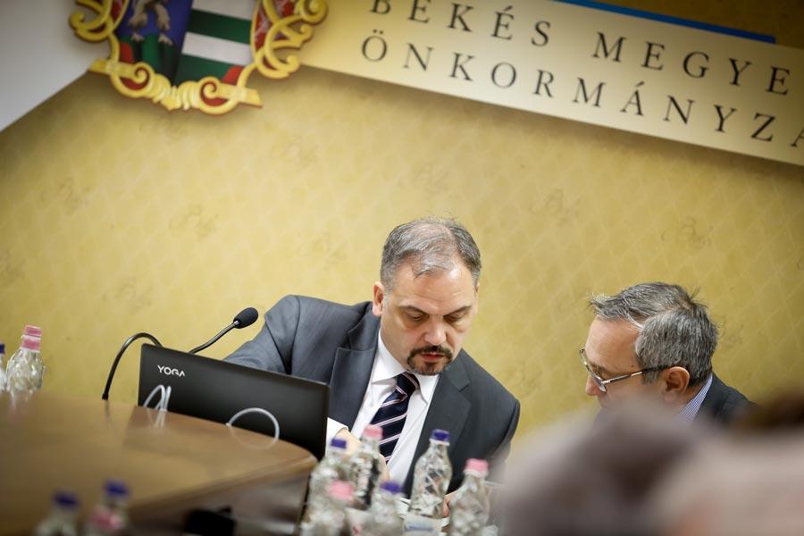A Békés Megyei Közgyűlés ülése