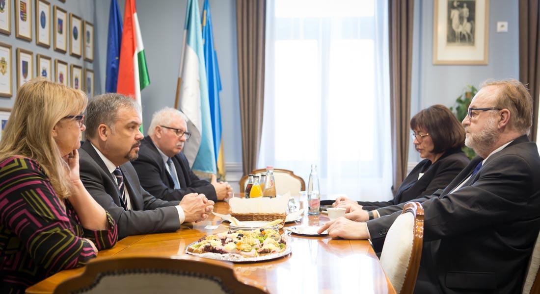 A békési megyeházán mutatkozott be az új szlovák főkonzul