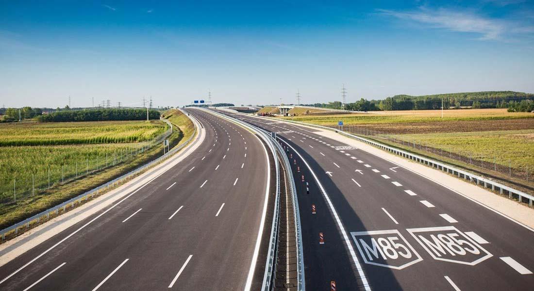 Jó ütemben halad az M85-ös gyorsforgalmi út építése Sopron és Csorna között