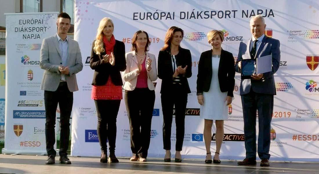 A legaktívabb megye- Elismerés Veszprém megyének az Európai Diáksport Napján