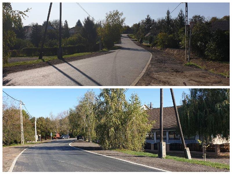 Megújultak Csővár község utcái